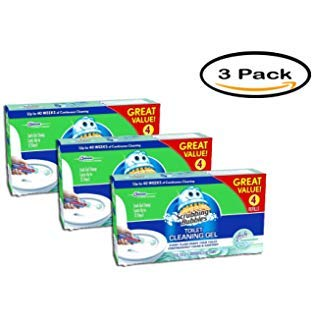 PACK OF 3 - Scrubbing Bubbles Fresh Clean Toilet Cleaning Gel Discs, 24 count, 5.36 oz by Scrubbing Bubbles