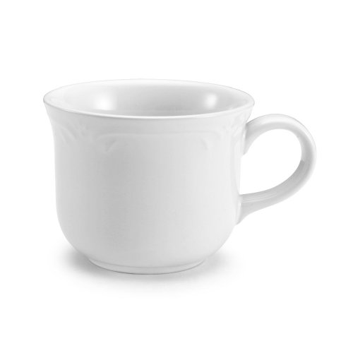 Pfaltzgraff Microwave Safe Mug - Pfaltzgraff Filigree Cup, 8-Ounce, White