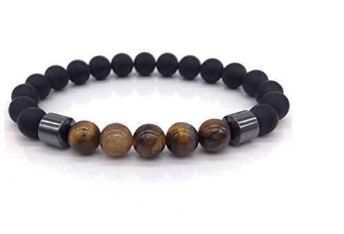 Matte Bead Tiger Eye with Hematite Bracelet For Men Citizen Mens Bracelets
