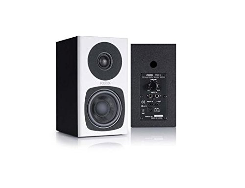 Fostex Studio Monitors - Fostex PM03W 3 Inch 2-way Powered Studio Monitor - White - Pair