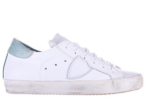 Philippe Model chaussures baskets sneakers femme en cuir blanc