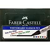 Faber Castell White Board Marker, Pack Of 10 Markers (Black)