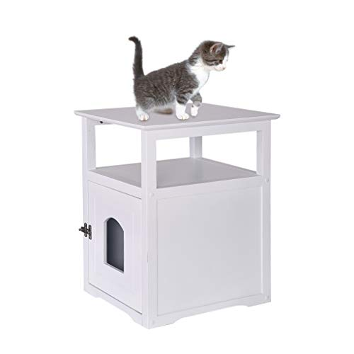 Bedroom Bedside Table Pet Nightstand Decorative Cat House Side Table Crate Cat Litter Box Enclosures Locker Pet…