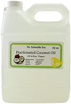 Organic Pure Fractionated Coconut Oil 32 Oz/ 1 Quart