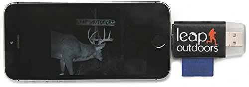 Leap Outdoors Trail or Game Camera Viewer SD Card Reader for Apple iPhone or iPad | Works with Cases | Reads SD, SDHC, and Micro SD Cards (Device Only) by Leap Outdoors (Image #1)