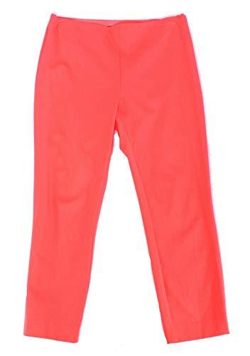 Pants Stretch Twill Crop - Ralph Lauren Lauren Ladies Keslina Stretch Twill Skinny Crop Pants 12 Orange