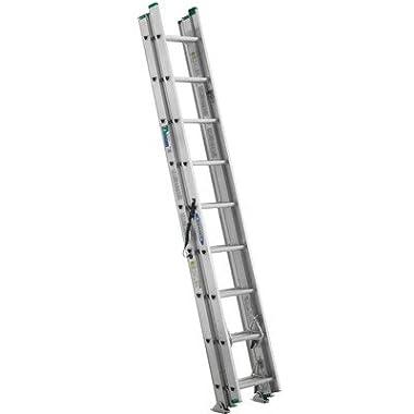 Werner D1224-3 24' Compact Aluminum D-Rung Extension Ladder