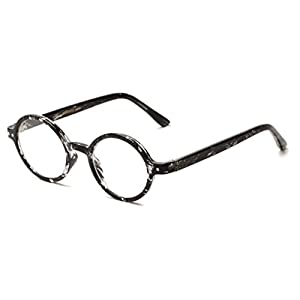 Readers.com The Bookworm +2.25 Marbled Black Affordable Round Frame Best Sellers Reading Glasses