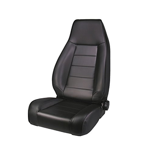 Rugged Ridge 13402.15 Factory Style Black Front Replacement Denim Seat with Recliner Recliner Black Denim