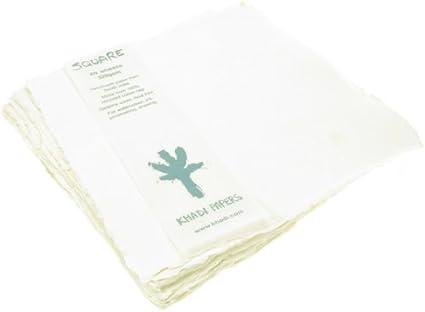 Khadi: Papel Para Acuarelas 100% (Hecho a mano) 320gsm, Pack de 20 hojas, Tamaño 20x20cm: Amazon.es: Oficina y papelería