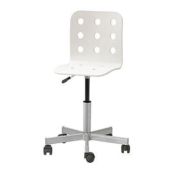Schreibtischstuhl weiß ikea  IKEA JULES -Junior Schreibtisch Stuhl weiß silberfarben: Amazon.de ...