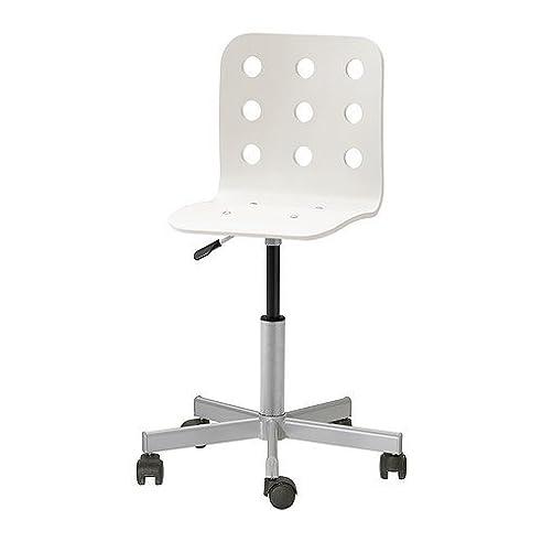 Drehstuhl weiß ikea  IKEA JULES -Junior Schreibtisch Stuhl weiß silberfarben: Amazon.de ...