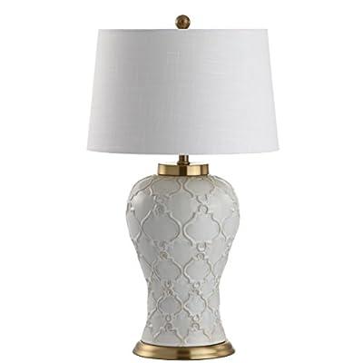 "JONATHAN Y JYL4024A Arthur 29"" Ceramic Table Lamp, Cream"