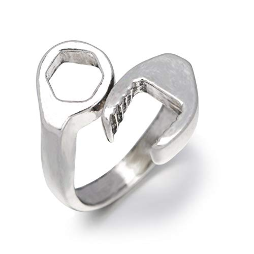 (DesirePath Ring Adjustable for Women Vintage Stainless Steel Punk)