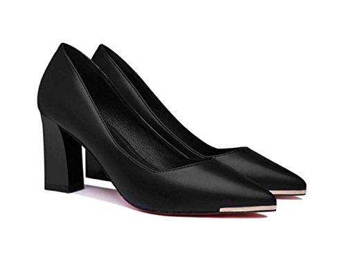 Medium Shallow Professional Summer Black 1 Shoes Heeled And Shoes Shoes Shoes Etc Spring High Women's T1qZKY