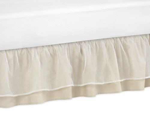 Sweet Jojo Designs Champagne and Ivory Victoria Bed Skirt for Toddler Bedding Sets