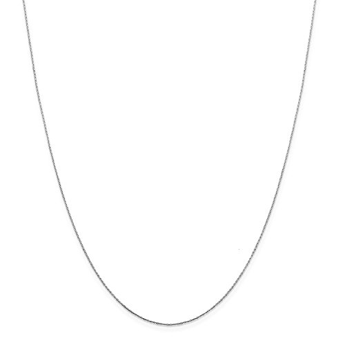 Jewel Tie 925 Sterling Silver .6mm Oval Box Chain Necklace 20