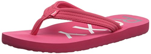 Roxy Girls' RG Vista 3 Point Sandal Flip-Flop, Berry, 11 M US Little Kid