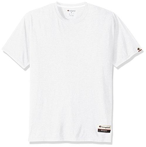 - Champion Men's Authentic Originals Soft Wash Short Sleeve Tee, White, Small