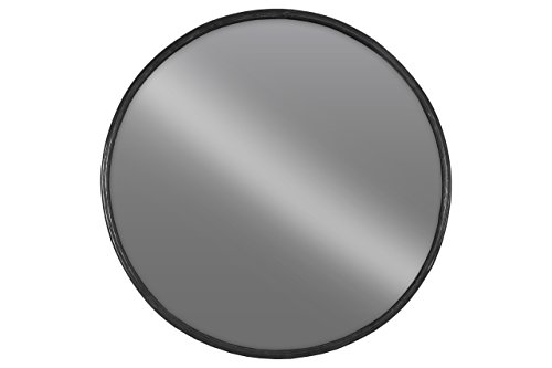 Urban Trends Metal Round Wall Mirror LG Tarnished Finish Black - Item Type: figurine Item material: metal Item finish: tarnished finish - bathroom-mirrors, bathroom-accessories, bathroom - 31WVWkVi45L -