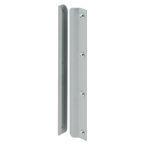 Steel Latch Guard - Defender Security U 9513 Latch Shield, 12 in., Steel, Gray, In-Swinging Doors