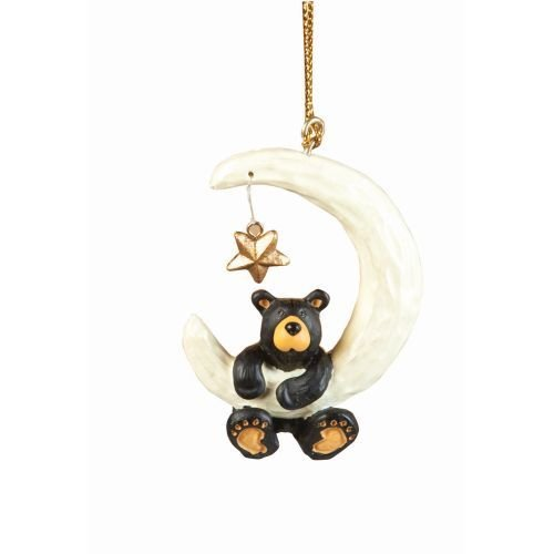 Bearfoots Bear Over The Moon (Bear Ornament)