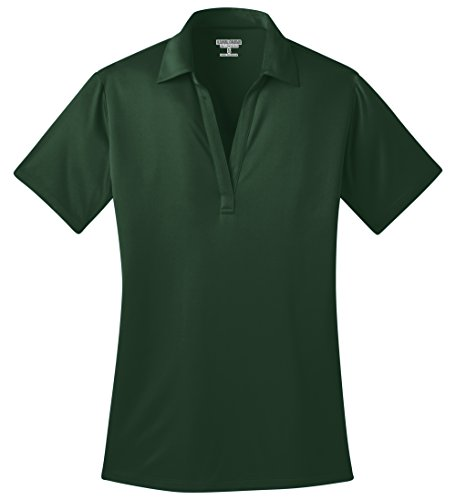 Kamal Ohava Women's Short Sleeve Performance Polo Shirt, 4XL Plus, Dark Green