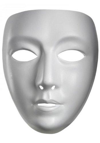 [White Plain Blank Female Mask] (Plain White Mask Costume)