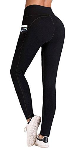 Inner Pocket - IUGA High Waist Yoga Pants Inner/Out Pocket Design, Tummy Control, Workout Running 4 Way Stretch Yoga Leggings