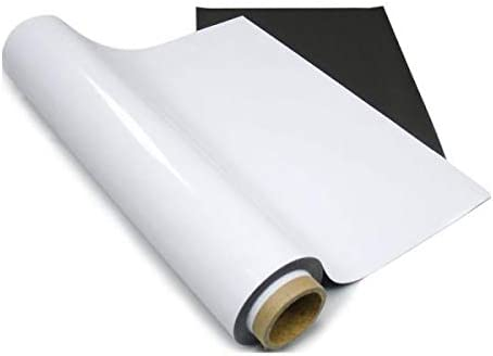 POVOKICI Blank Magnetic Printable Media Fridge Magnet 24x25/´ Feet Roll 20 Mil Matt-US Stock