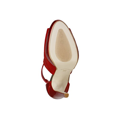 V 1969 - VICTORIE_ROSSO Sandalias De Vestir Para Mujer Tacón 12.5 cm, Plataforma 2.5 cm