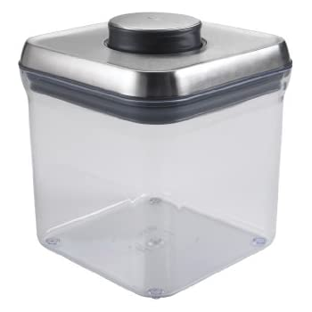 OXO SteeL Airtight Food Storage POP Container   Big Square (2.4 Qt)