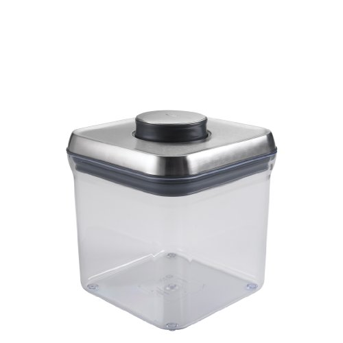 OXO SteeL Airtight Food Storage POP Container - Big Square (2.4 Qt)