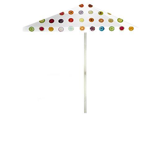 - Best of Times 1020W2115-W YOKIBUG Fruit 8 ft Tall Square Market Umbrella, One Size, Multi-White