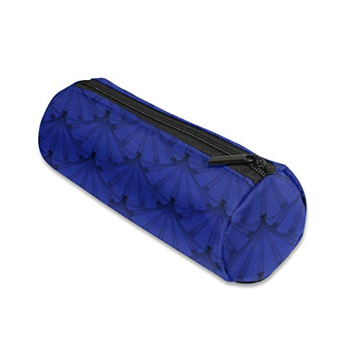 ALLDET Patriots Holiday Blue Ribbon Rosettes Cylinder Women Cosmetic Bag Zipper Single Layer Travel Storage Makeup Bags - Layer Rosette Single