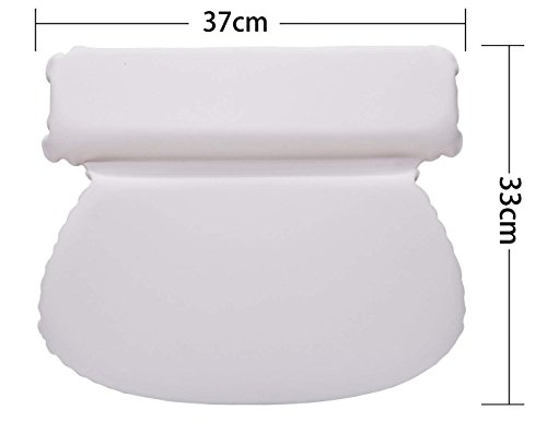 Luxury Spa Bath Pillow with Head Neck Shoulder and Back Support by Bossjoy (Image #2)