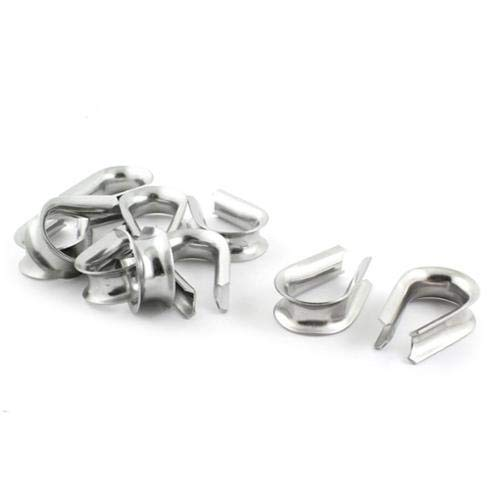 U-nique 10 Pieces Stainless Steel Cable Thimbles for 12mm 1/2 Wire Rope by OKSLO (Image #1)