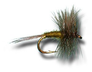 Blue Wing Olive (Blue Winged Olive Fly Fishing Fly - Size 16 - 3 Pack )