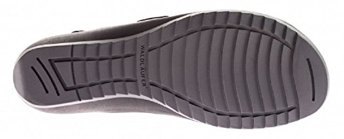 Women's Waldlaufer Memphis Taipei Denver 255006 302 Double Strap Leather Sandals Black (Schwarz) DZSg39