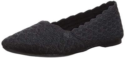 Skechers Women's Cleo-Scalloped Knit Skimmer Ballet Flat