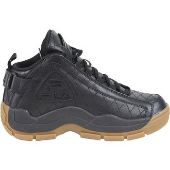 Fila Men's 96 Qulted G Hill Sneakers,Black/Gum,10