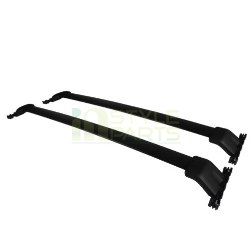 Spec-D Tuning RRB-PLT09BK Honda Pilot Black Aluminum Roof Top Rack Side Rail Luggage Cross Bar