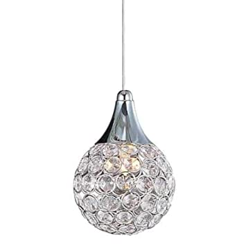 ET2 Lighting E24023-20PC Brilliant Mini Pendant Light Surface Mounted, Crystal Metallic Indoor Lighting in Circular Shape. Ceiling Lighting