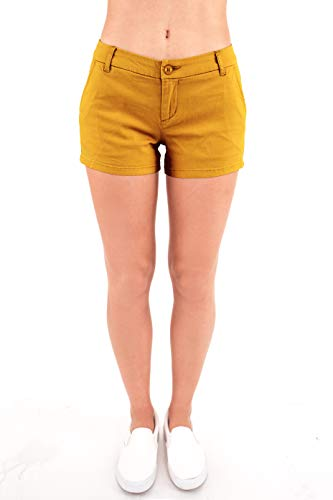 Bebop Women's Casual Shorts, Stretch Cotton Twill (Size 11, ()