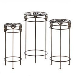 Lonestar Horseshoe Plant Stand Trio (pack of 1 SET of 3)
