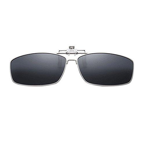 Lectura Conducir Hombre Hzjundasi Gafas de Negro Metal Metálico Rectangular Polarizadas Mujer Anti Sol Sunglasses Vintage Reflejante Portección UV400 Eyewear qAZ6nfwRAF