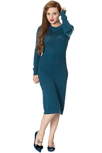 Banned 5174 Strickkleid Daydream Dress Days Teal Deep Dancing by PrnqwP1g