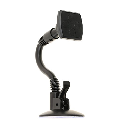 Waterwood Soft Tube Universal Magnetic Car Phone/GPS/PDA Mount Cradle Holder with Secure Suction Cup Black