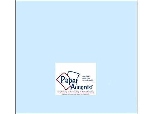 Accent Design Paper Accents Cdstk Smooth 12x12 60# Baby - Baby Cardstock Blue