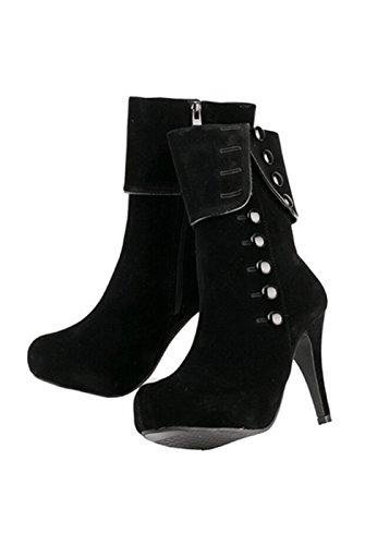 TOOGOO (R) Frauen reizvolle hohe Absaetze Stoeckelschuh Party Schuhe Stiefeletten schwarz 36